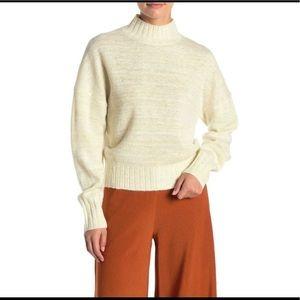 NWT NSR | Metallic Mock Neck Sweater